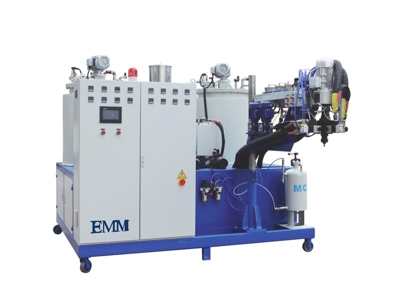 Máquina de fundición con mancuernas de poliuretano