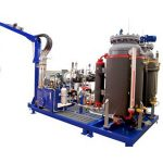 Máquina espumadora de alta presión de ciclopentano, máquina de llenado de espuma de pu de 32kw