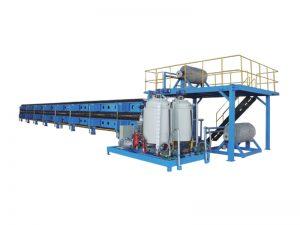 Línea de producción continua de paneles de poliuretano.